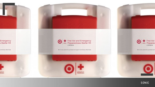 Designed from the inside out, the Target+Red Cross case organizes all  emergency articles based on importance and needs. The first aid kit is  attached to the ...