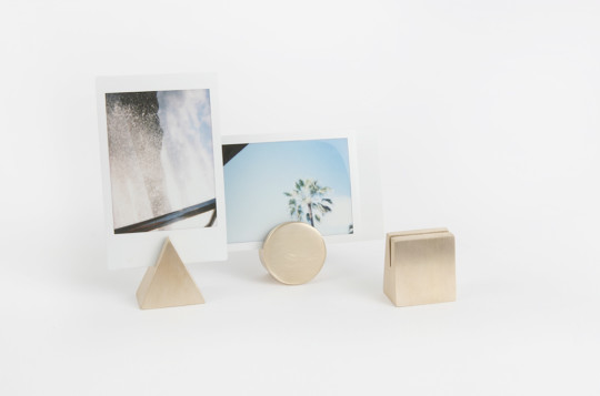 Geo Stands: Solid Brass Card & Photo Holders
